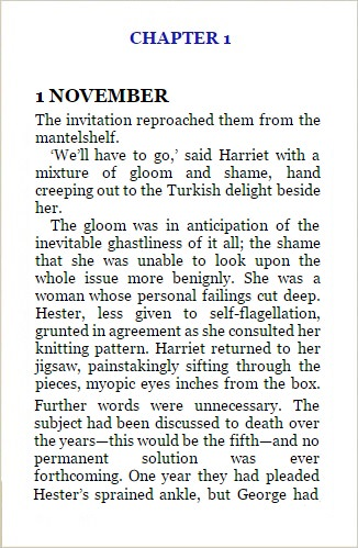 hester and harriet page one